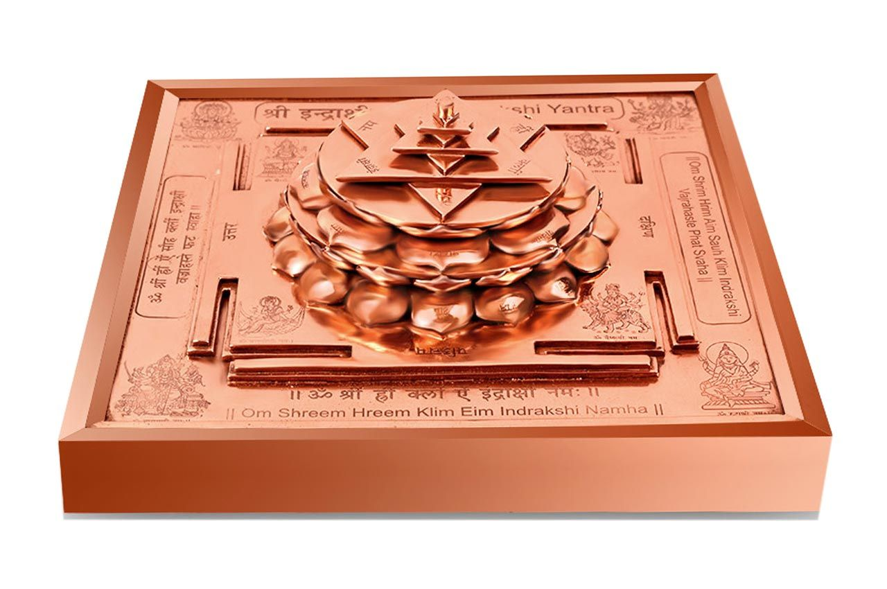 Maha Siddh Indrakshi Yantra on Lotus