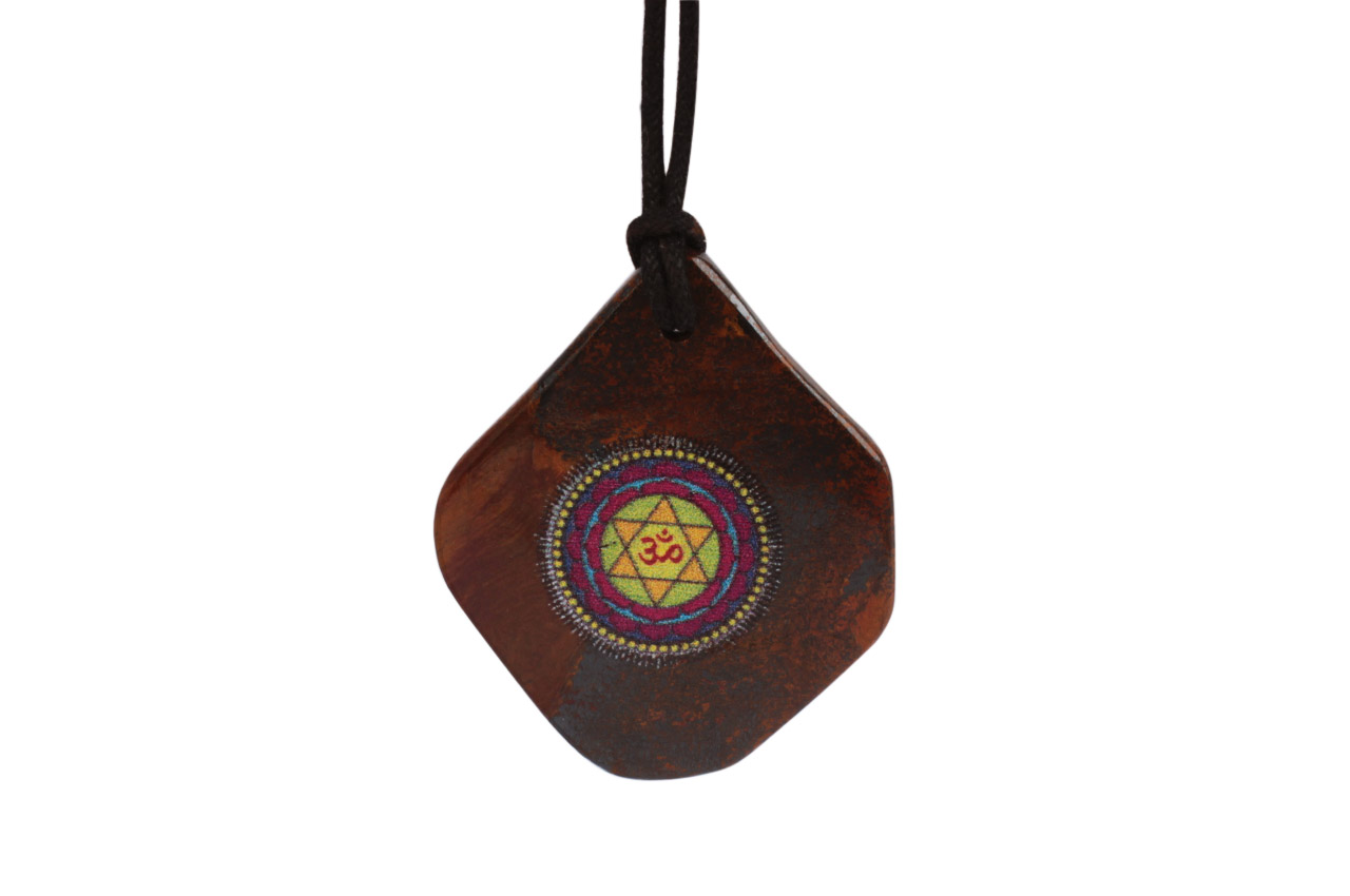 Maha Sudarshan Yantra Pendant on Tiger Eye