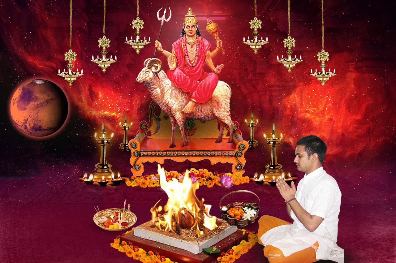 Monthly Mangal Grah Shanti Puja and Homa