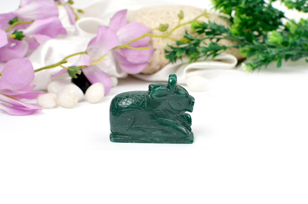 Nandi in Green Jade - 115 gms