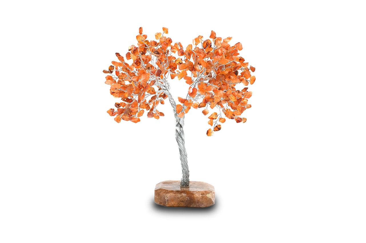 Natural Orange Jade Chakra Vastu Tree - Big
