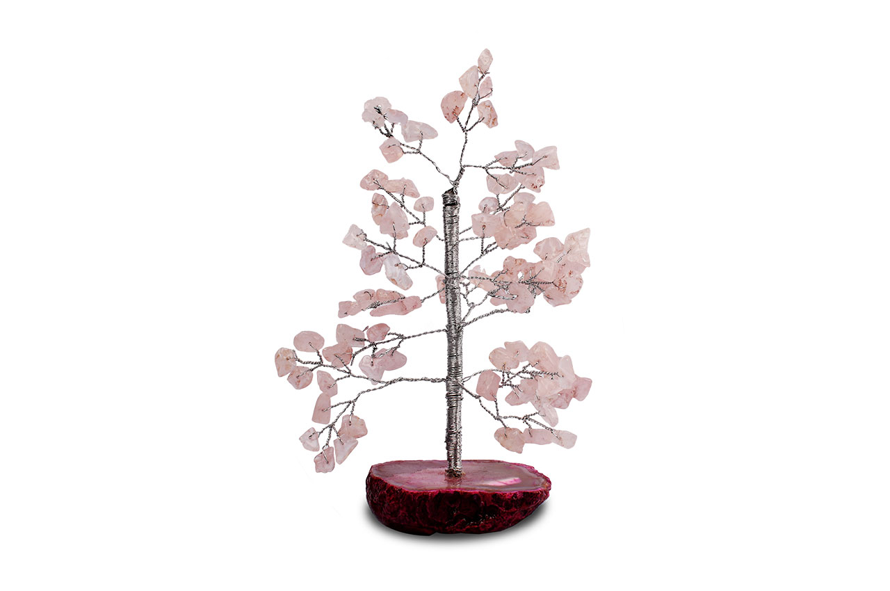Natural Rose Quartz Chakra Vastu Tree - Small