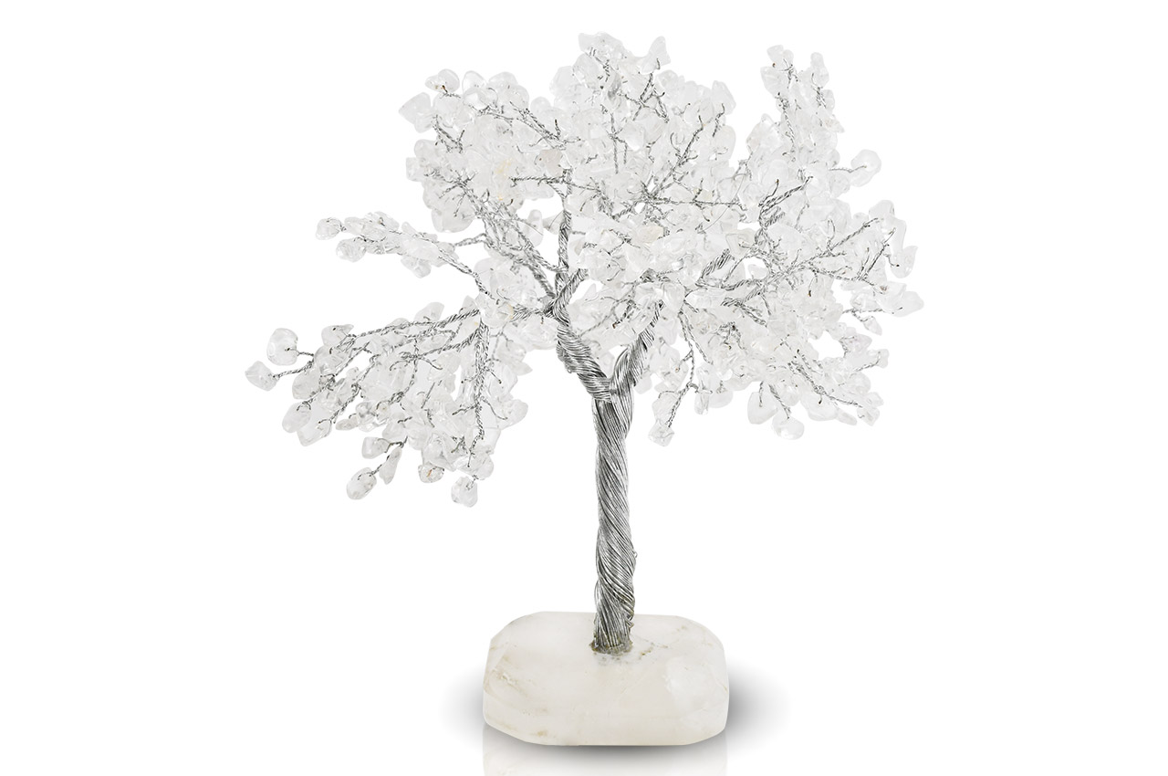 Natural White Crystal Chakra Vastu Tree - Big
