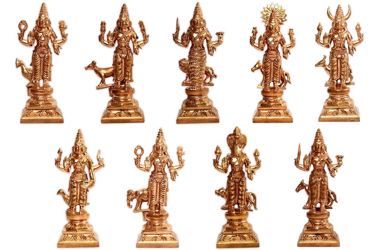 Navgraha Idols in Bronze - I