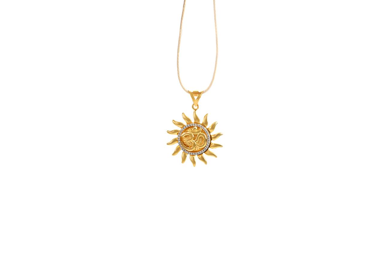 Om Surya Pendant in Gold - 3.7 gms