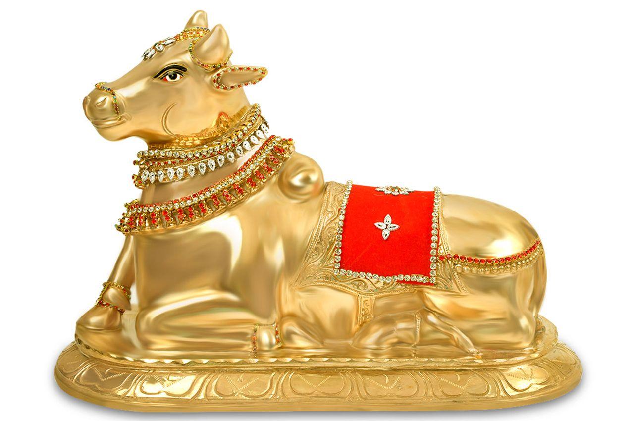 Ornamented Nandi in Bronze