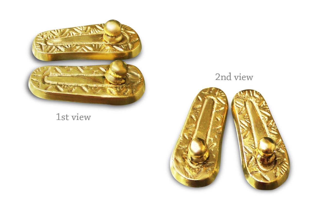 Paduka in Brass - Design I