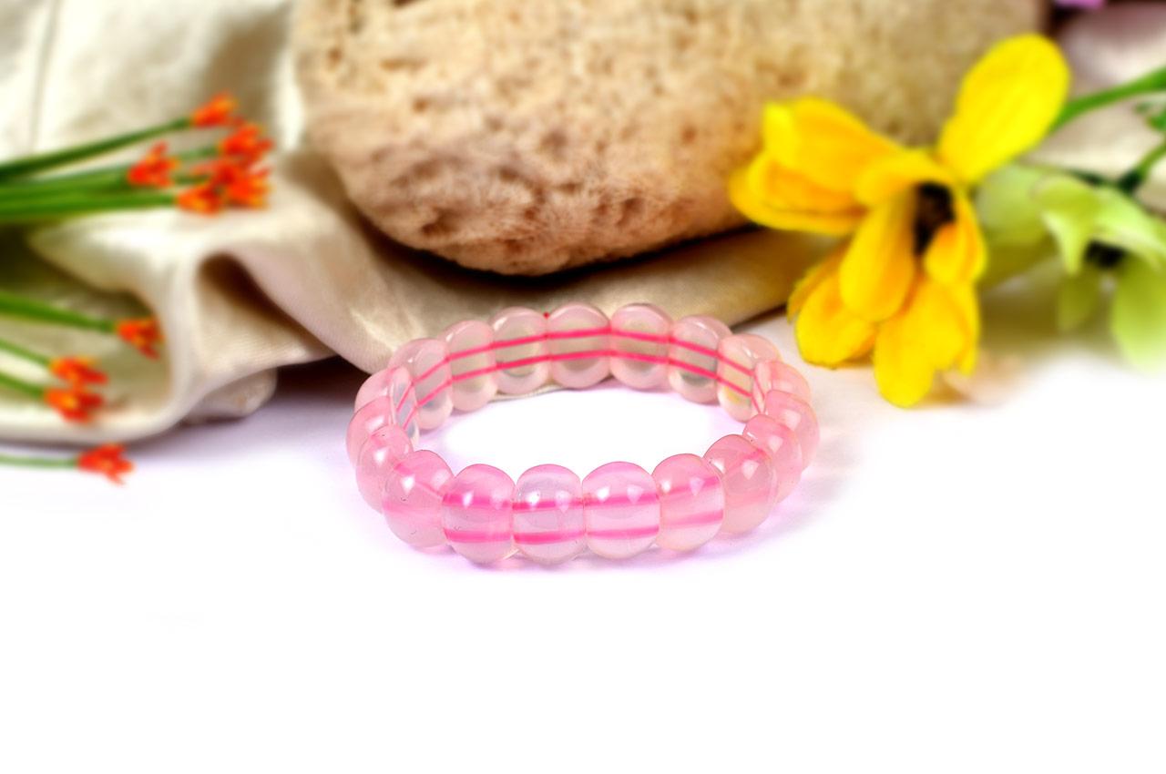 Pink Rose Bracelet