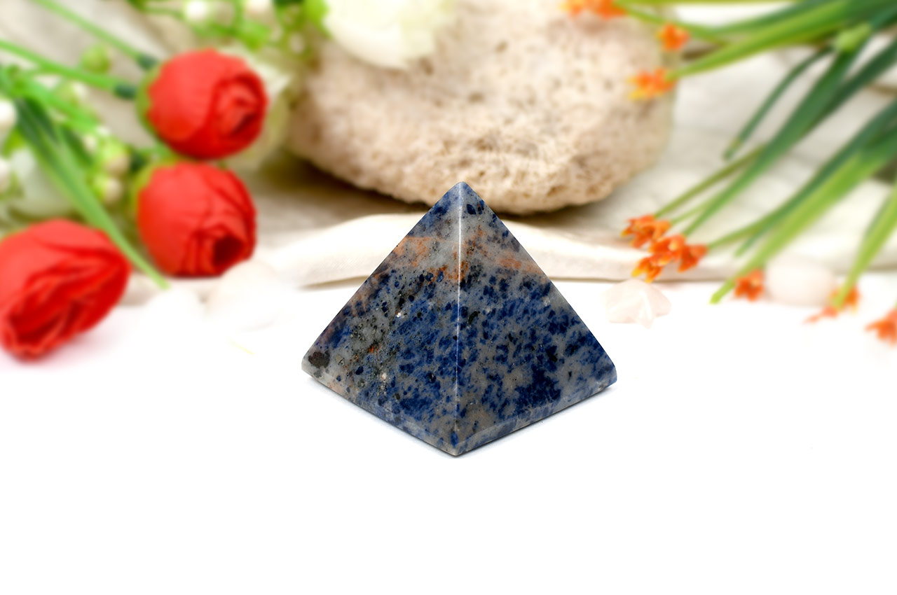 Pyramid in Blue Sodalite - Communication and Creativity
