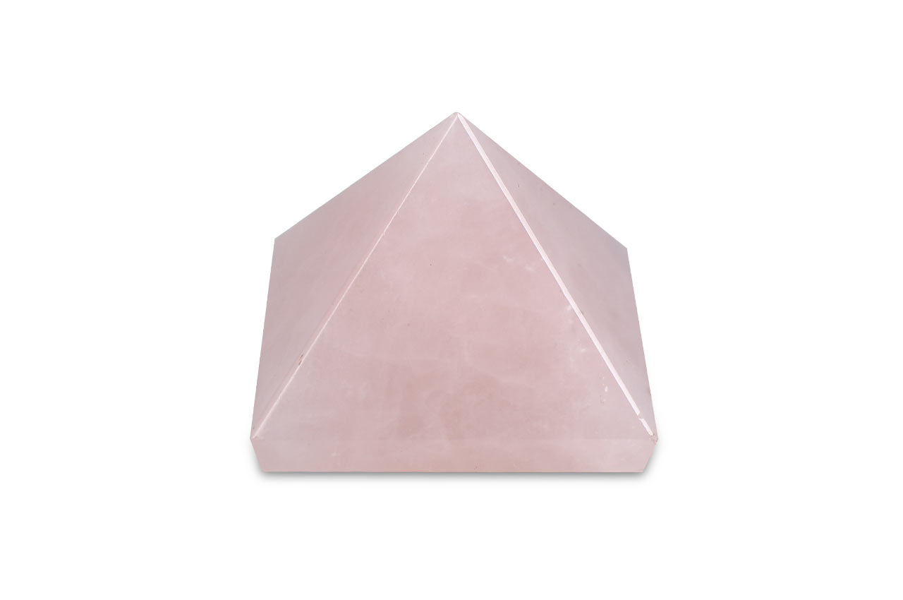 Pyramid in natural Rose Quartz - 51 gms