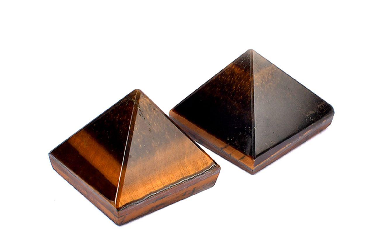 Pyramid in Natural Tiger Eye - Set of 2