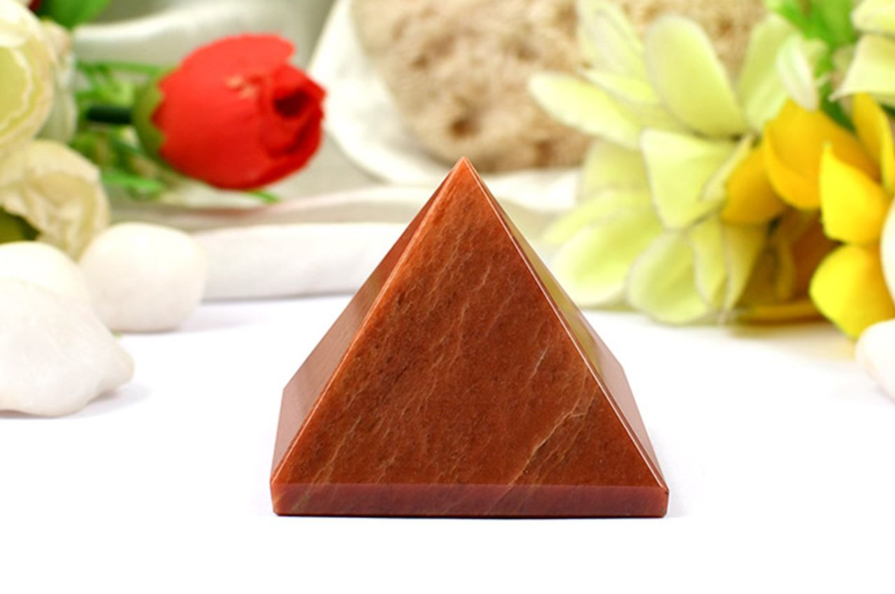 Pyramid in Red Jasper-Energy and strength - II