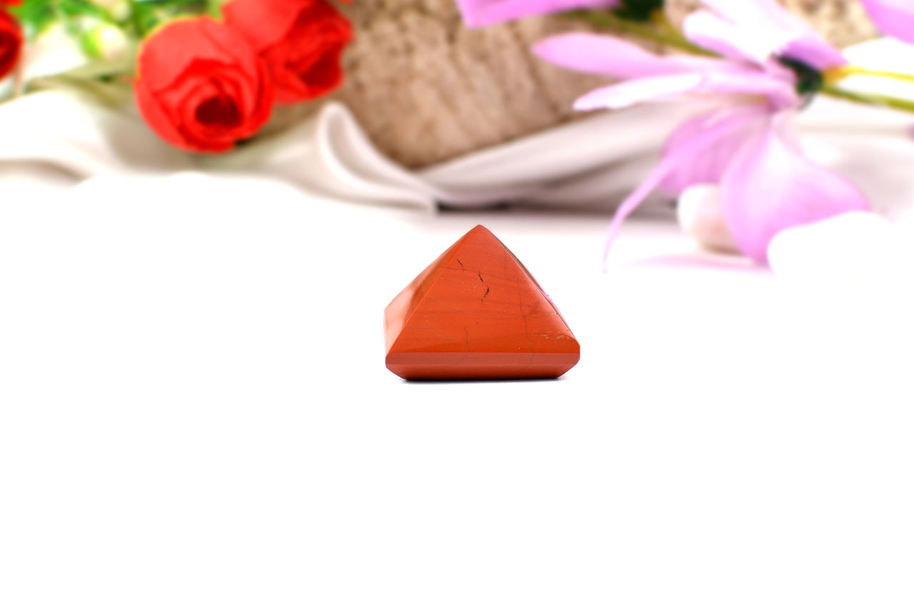 Pyramid in Red Jasper-IV