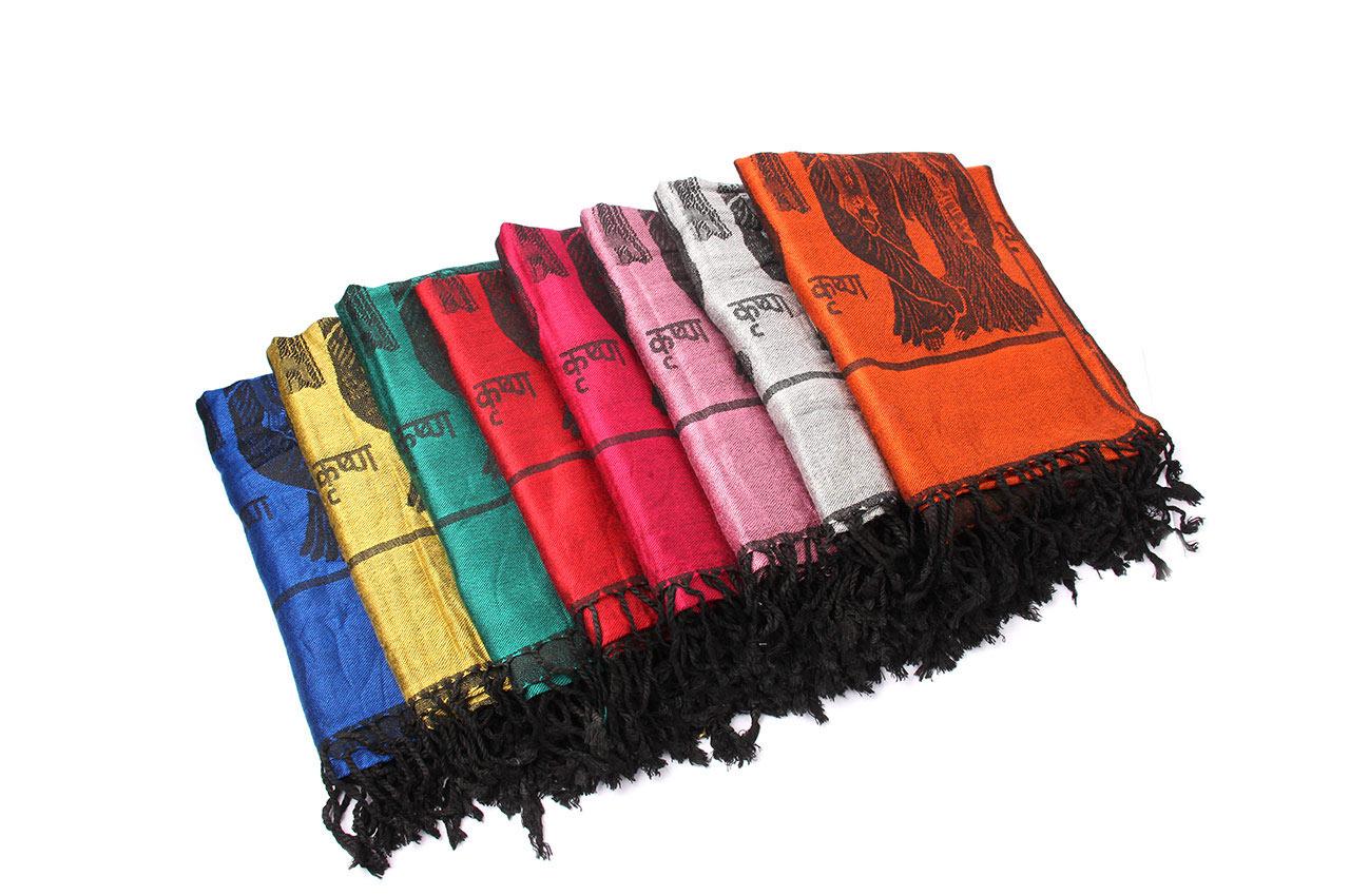 Radha Krishna Shawl in Soft Jacquard Fabric
