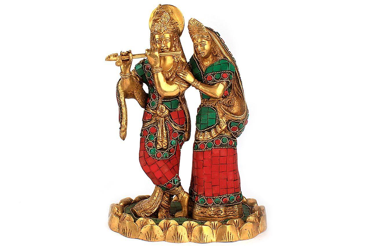 Radha Krishna with Stone Work