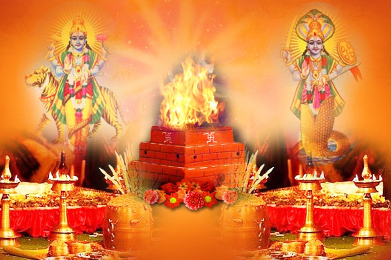 Rahu and Ketu Grah Puja Mantra Japa and  Yagna