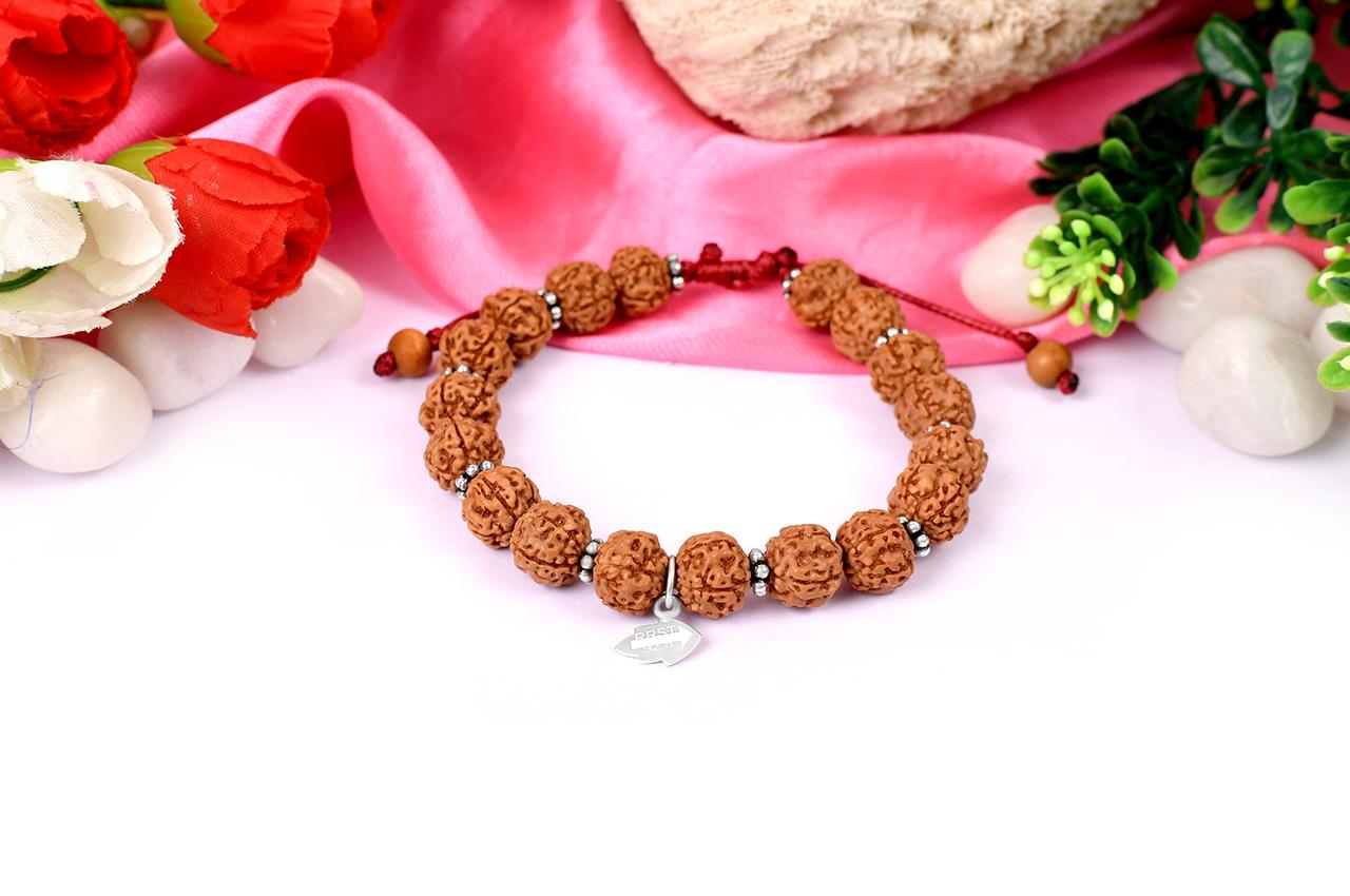 Rare 5 mukhi semi chikna bracelet - 11mm