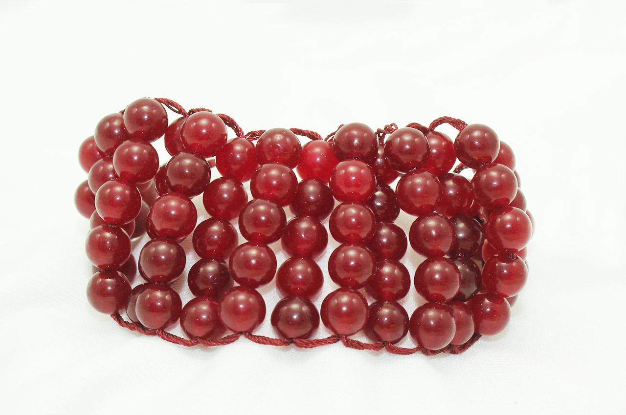 Red Agate Multi Beads Bracelet