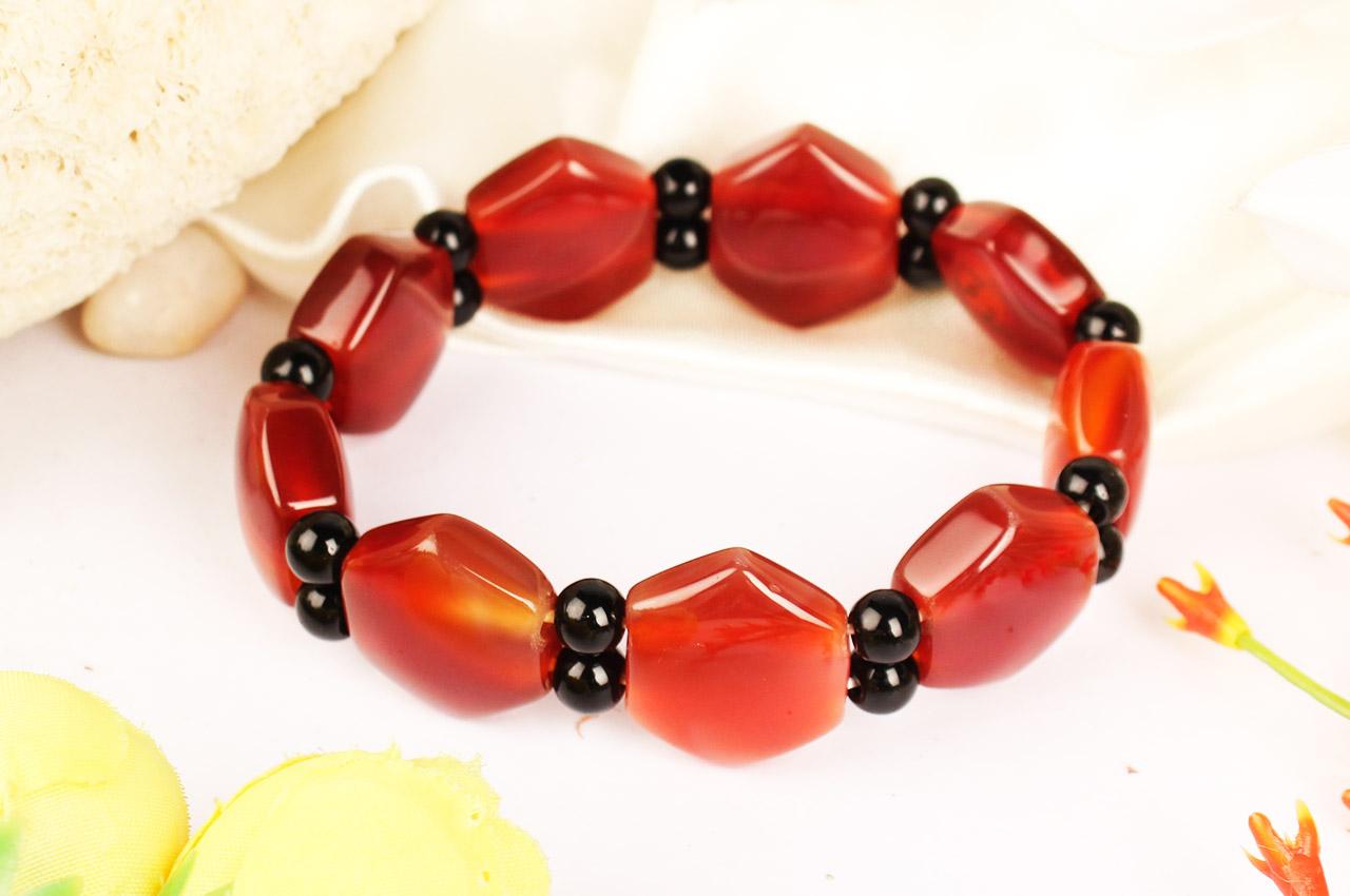 Red Carnelian Bracelet - Hexagon Shape