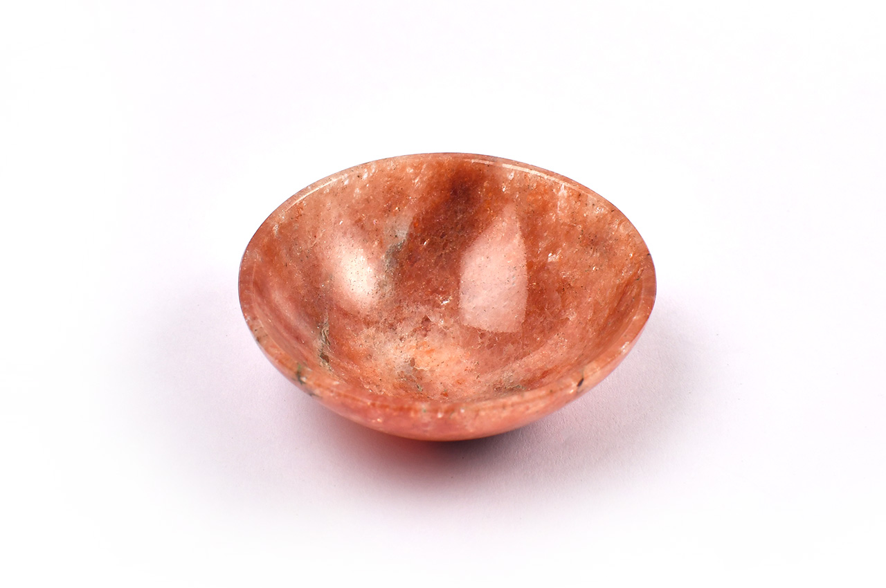 Red Jade Gemstone Bowl