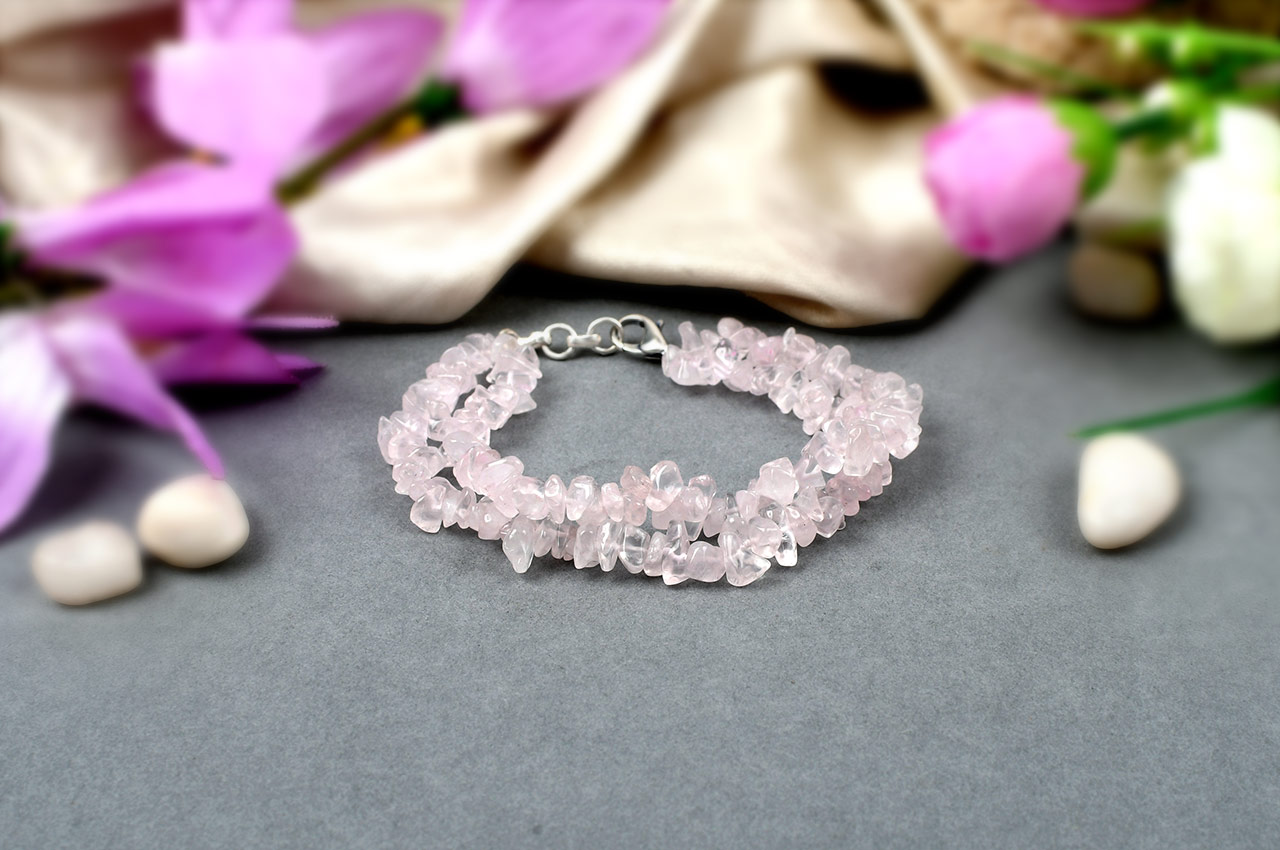 Rose Quartz Double Turn Bracelet