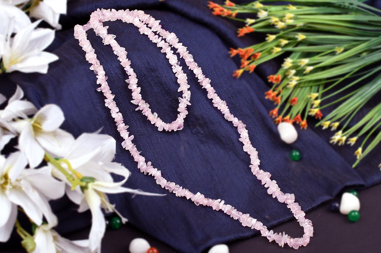 Rose Quartz Necklace - I