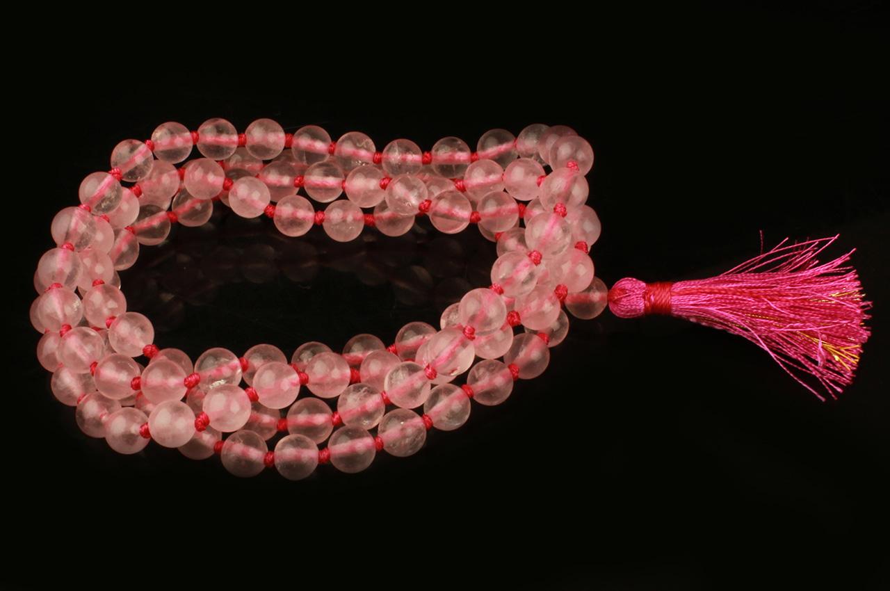 Rose Quartz Round Mala - 6 mm