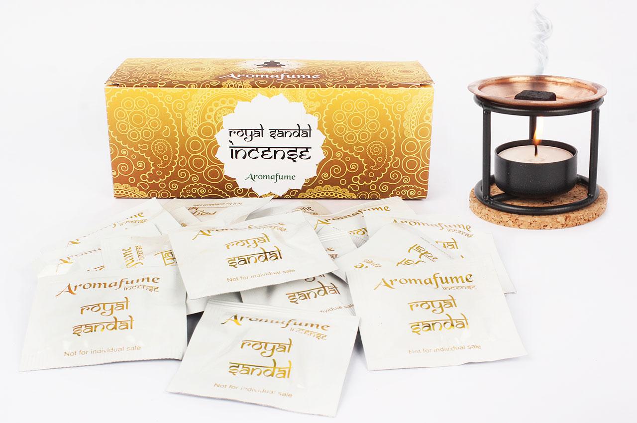 Royal Sandal Incense Medium With Exotic Incense Diffuser