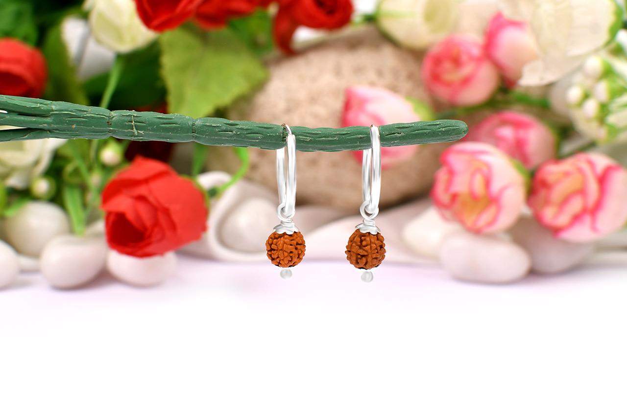 Rudraksha Earrings Set - I