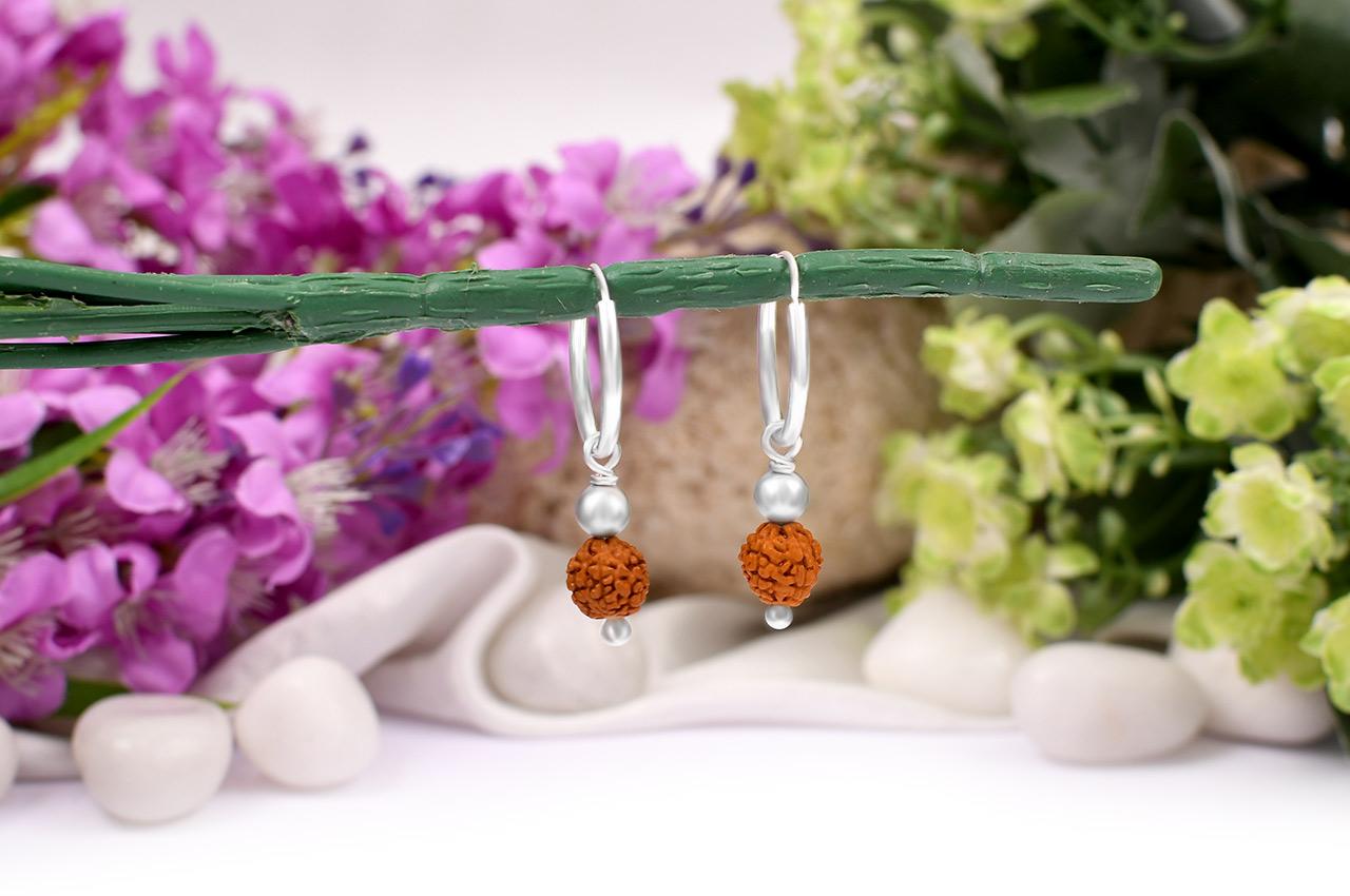 Rudraksha Earrings Set - X