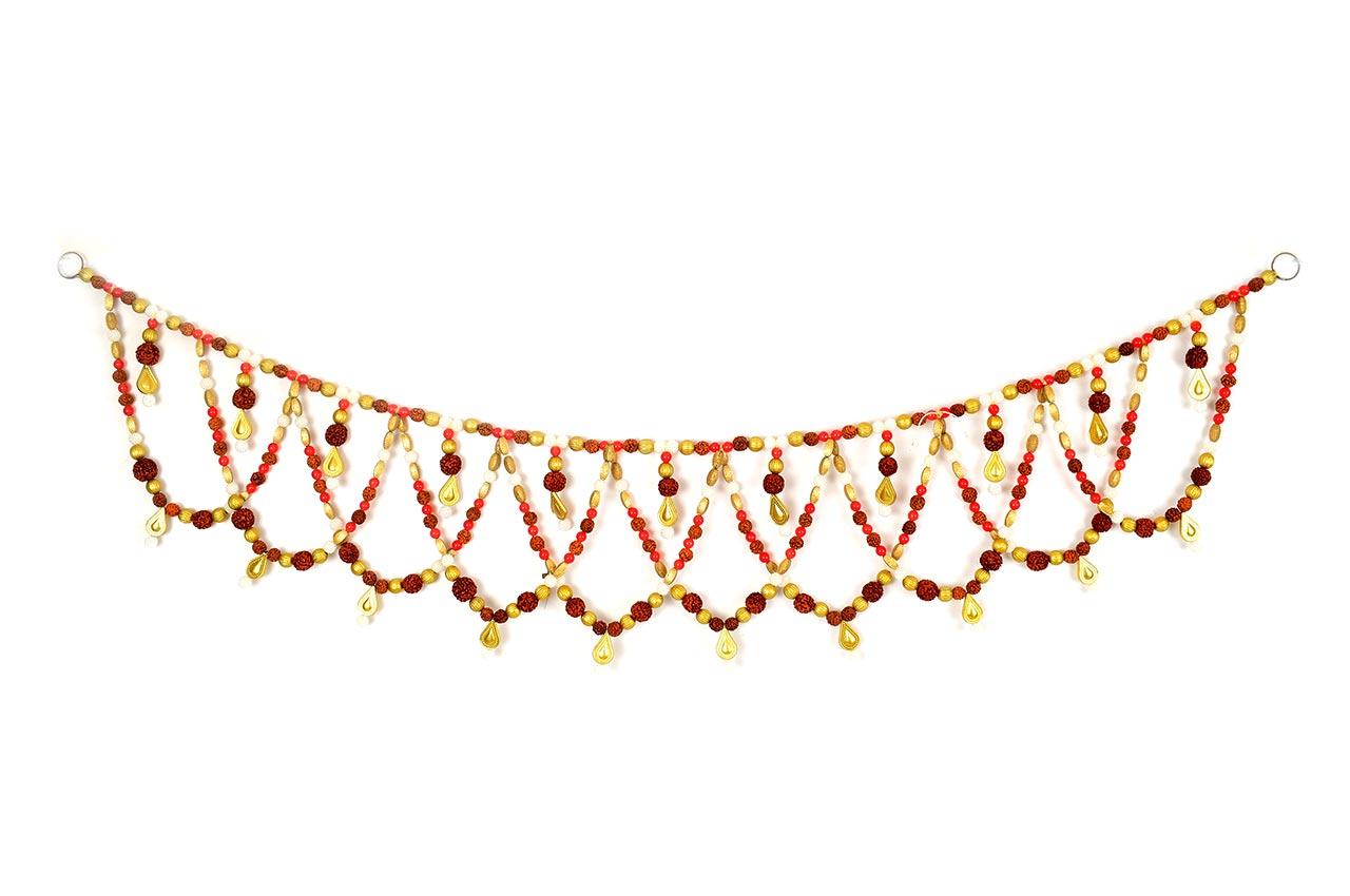 Rudraksha with Red Jade Toran - II