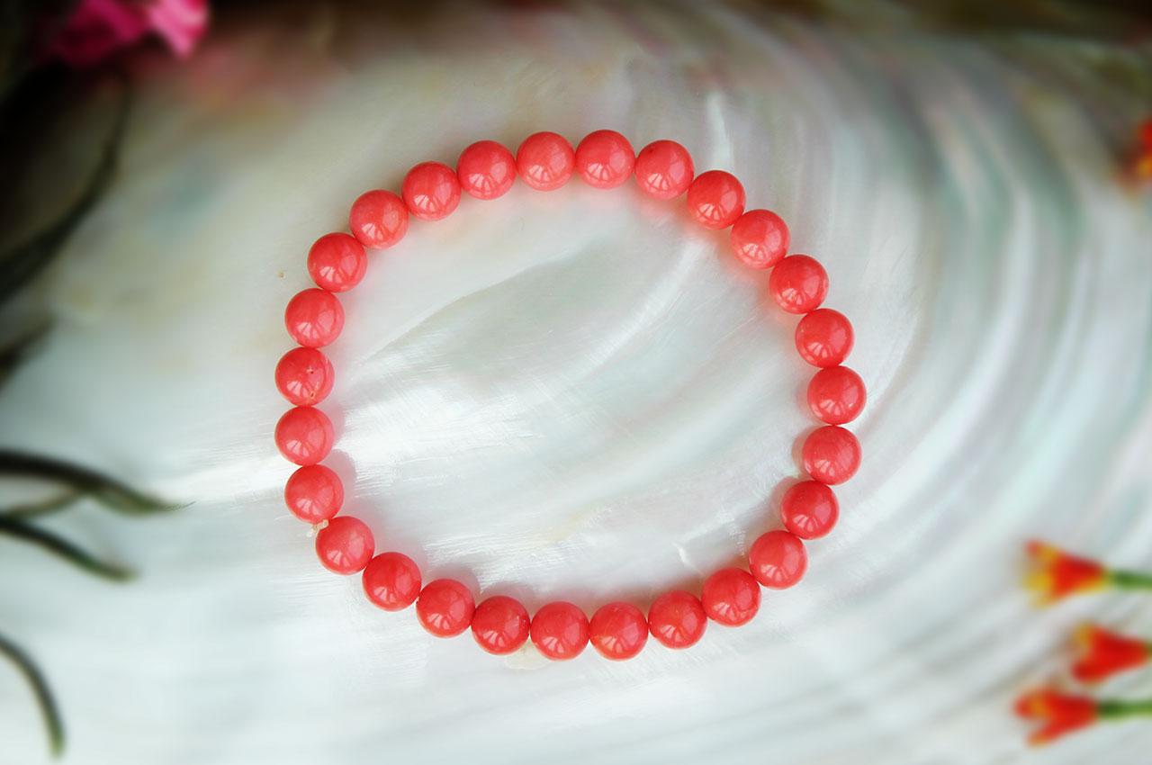 Saffron Opal Beads Bracelet