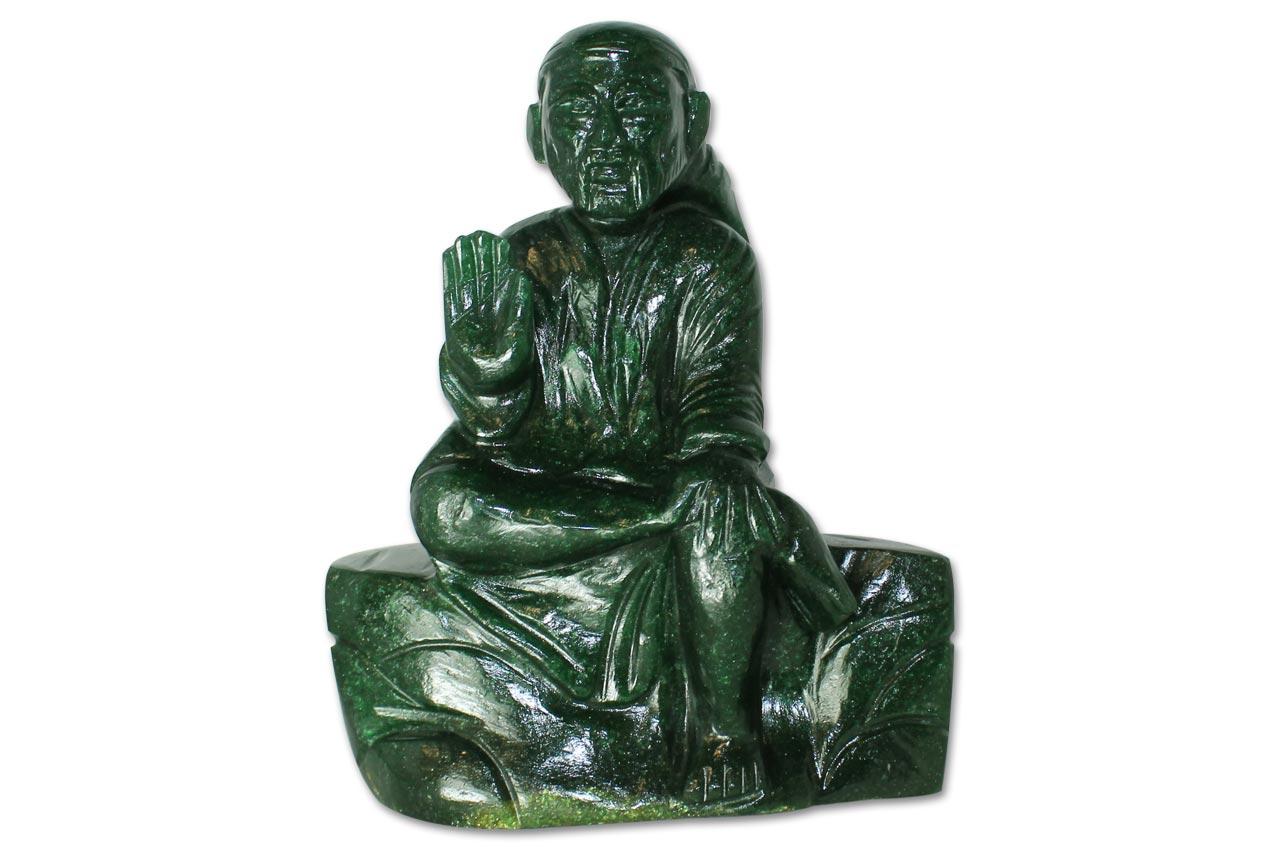 Sai Baba statue in Green Jade