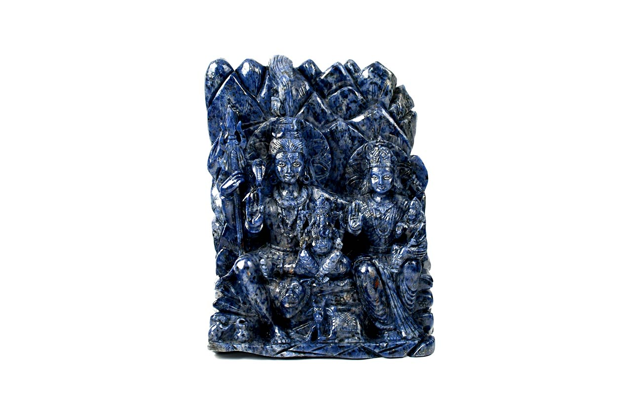 Shiv Parivar in Blue Sodolite - 10770 gms