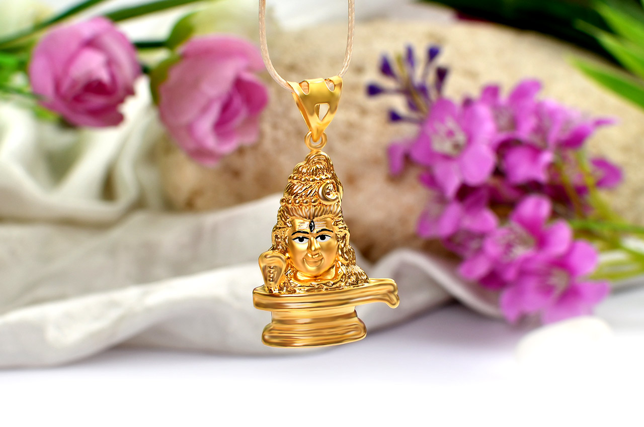 Shivling Locket in Pure Gold - 4.5 gms