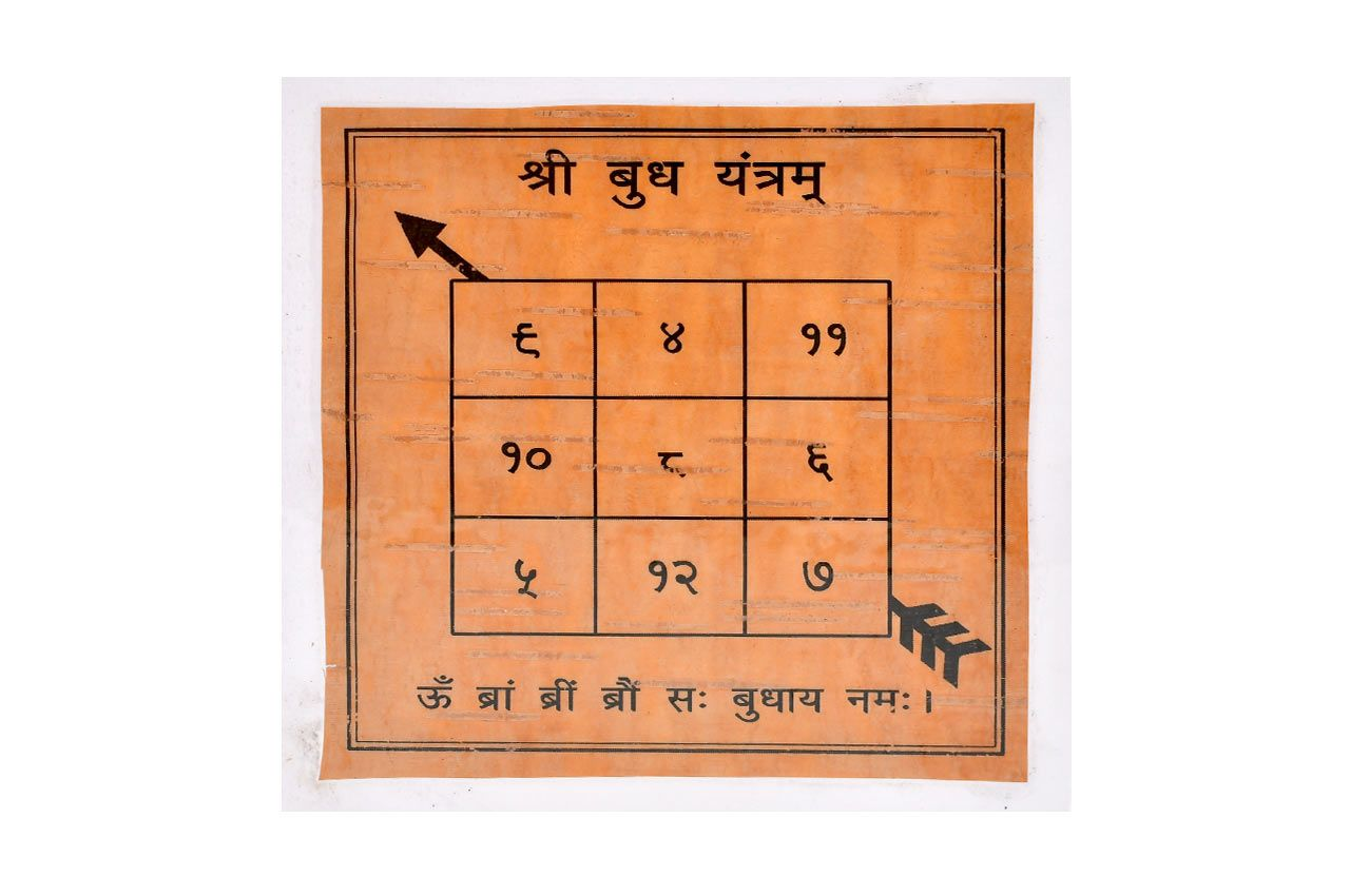 Shree Buddh Yantram on Bhojpatra