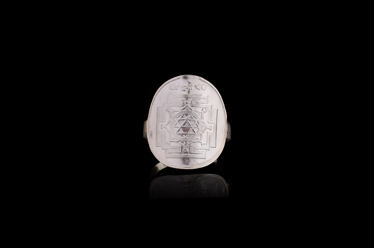 Shree Durga Yantra Ring in Silver