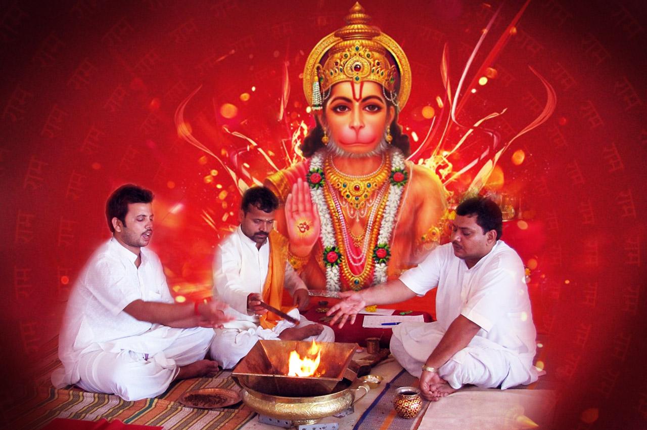 Shree Hanumanji Puja Mantra Japa and Yajna - Rudraksha Ratna