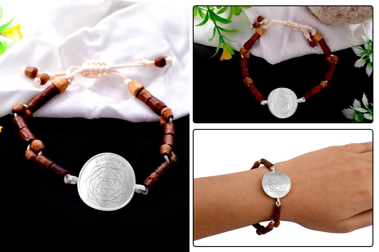Shree Sainath Yantra in Silver Bracelet