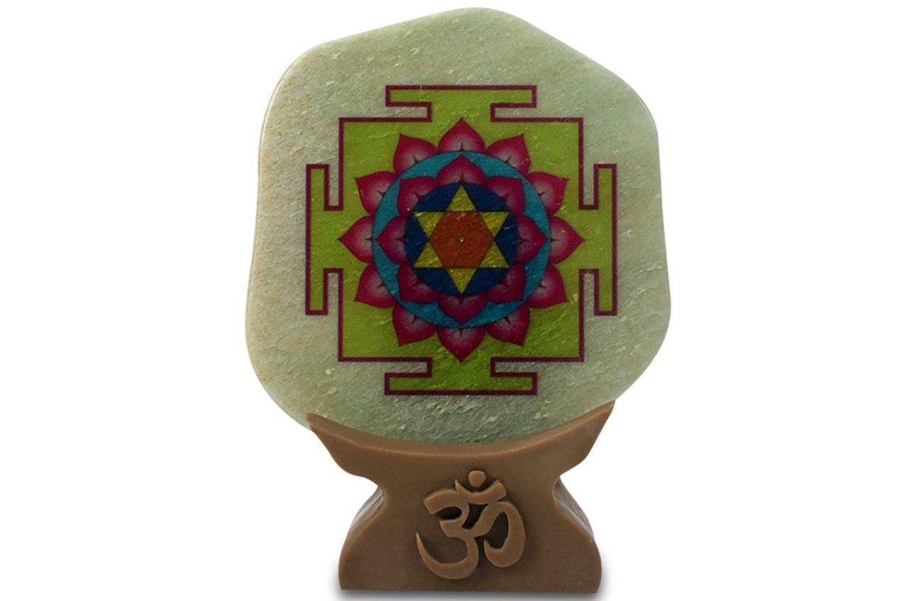 Shree Vishnu Yantra on Green Jade