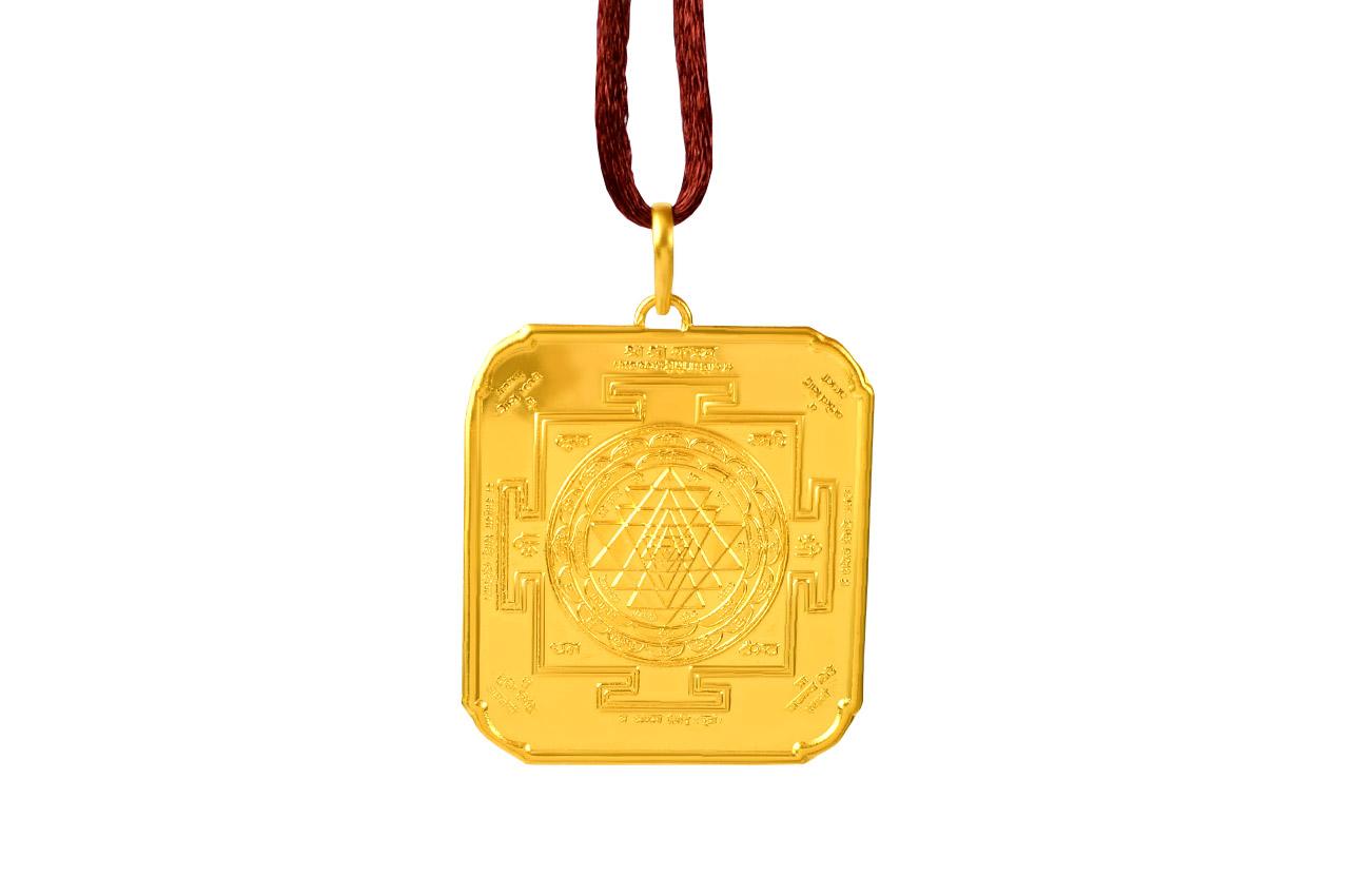 Shree Yantra locket - 24 ct pure gold