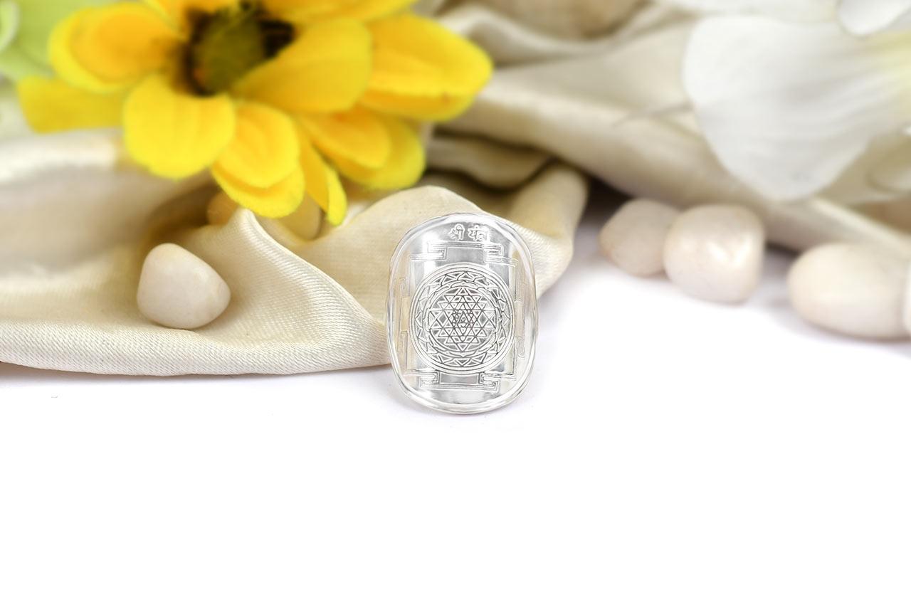 Shree Yantra Silver Ring