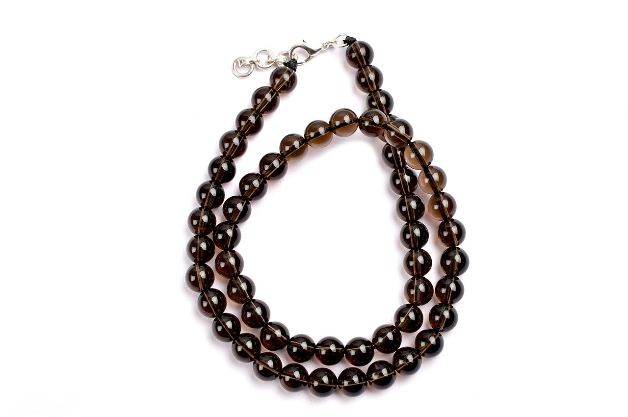 Smoky Quartz round beads - 8mm