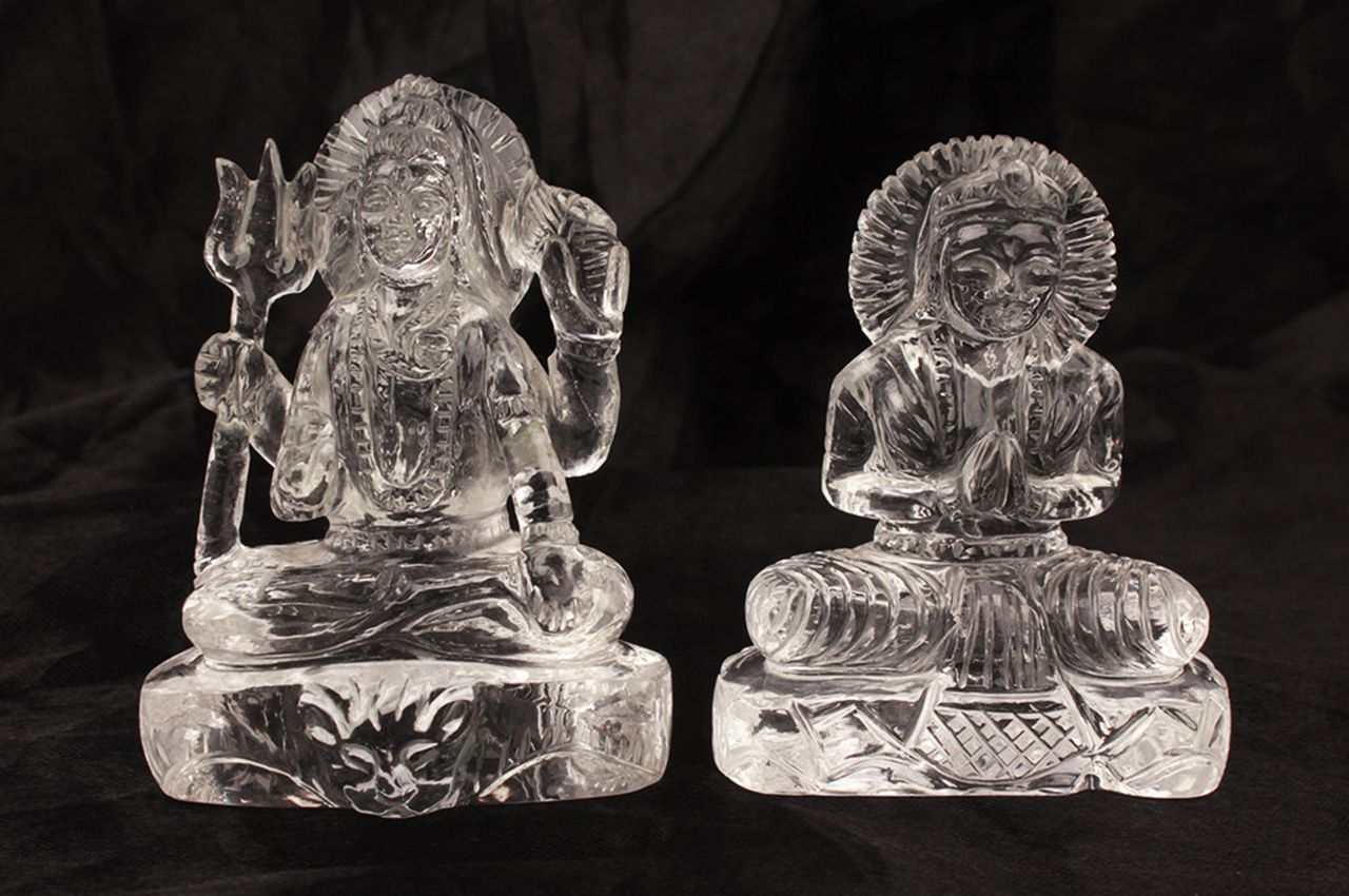 Sphatik Crystal Shiv Parvati