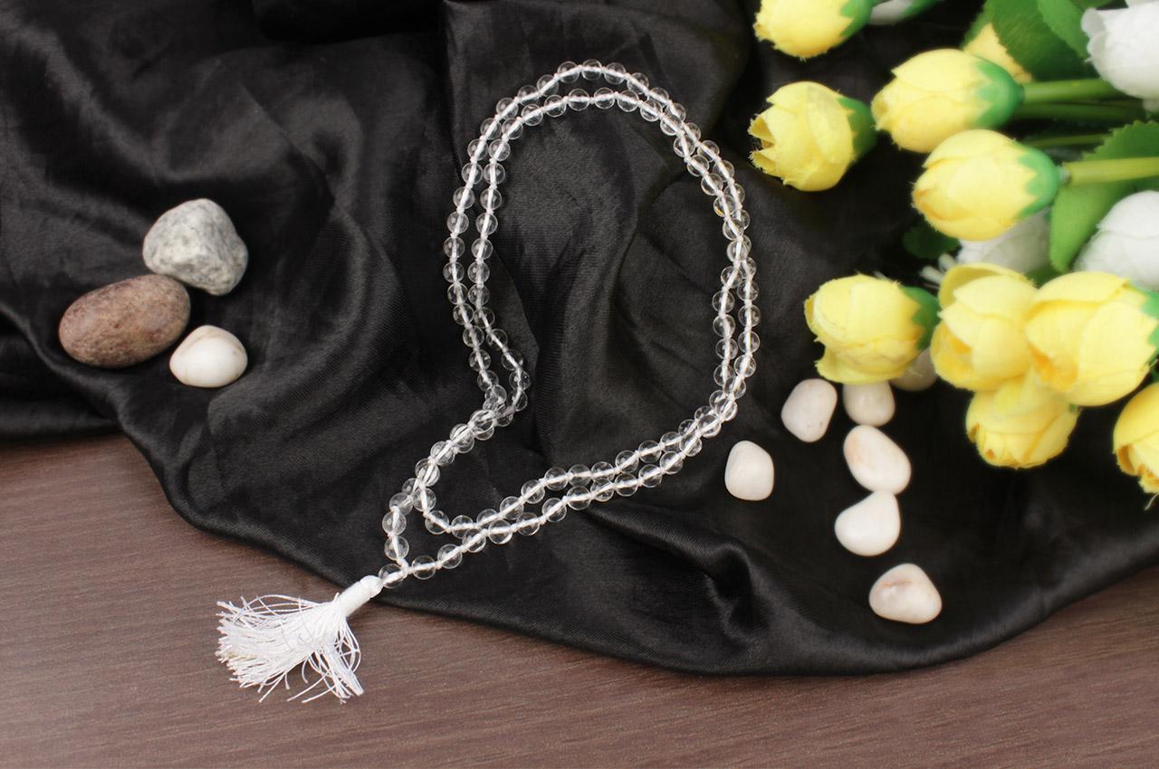 Sphatik mala in thread - Size I