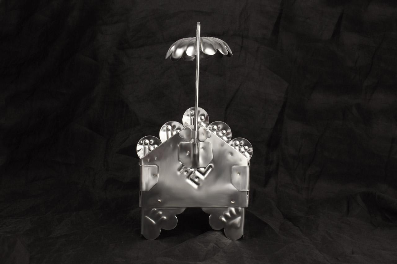 Steel Throne for deity - small