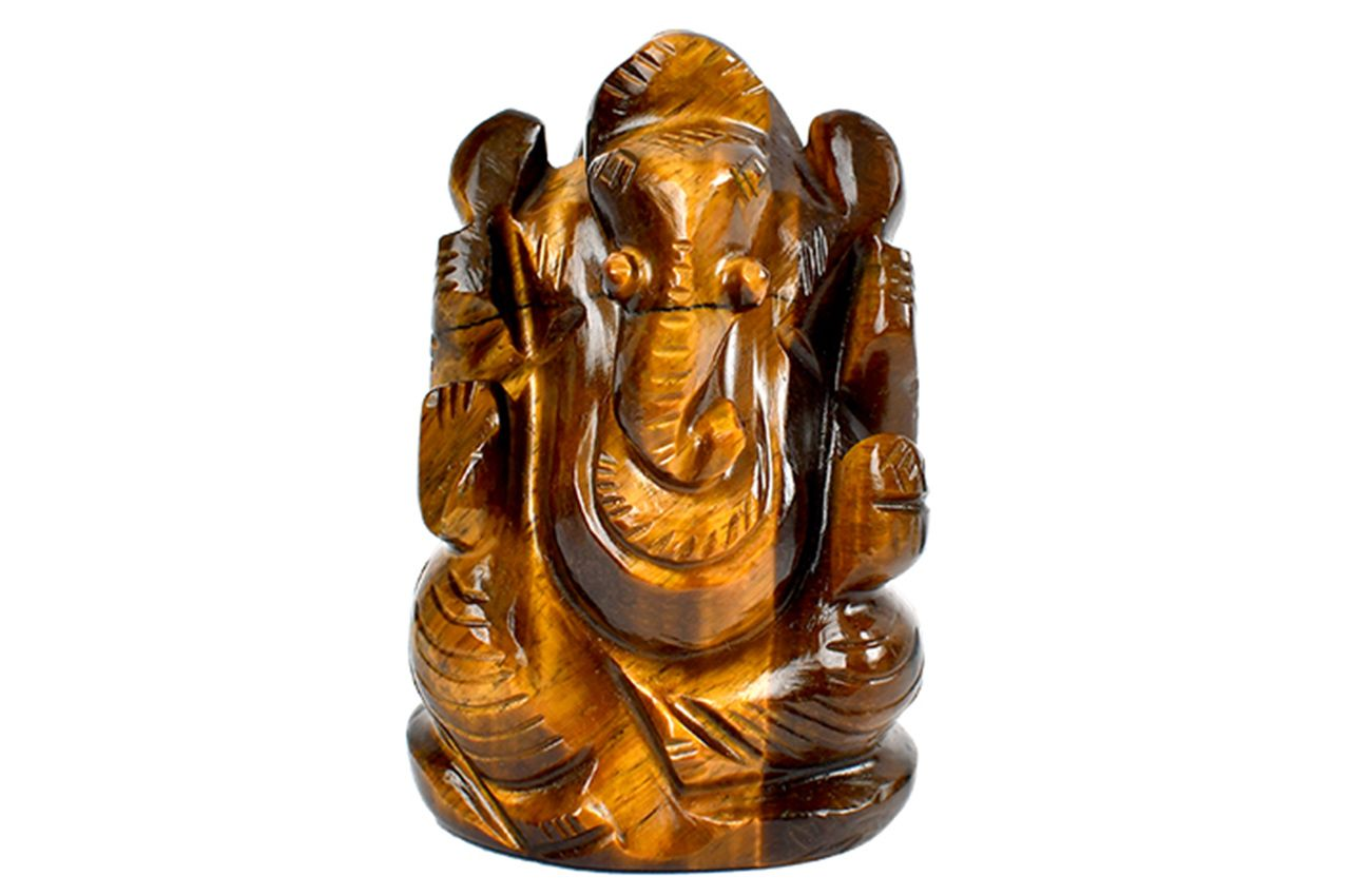 Tiger Eye Ganesha - 123 gms