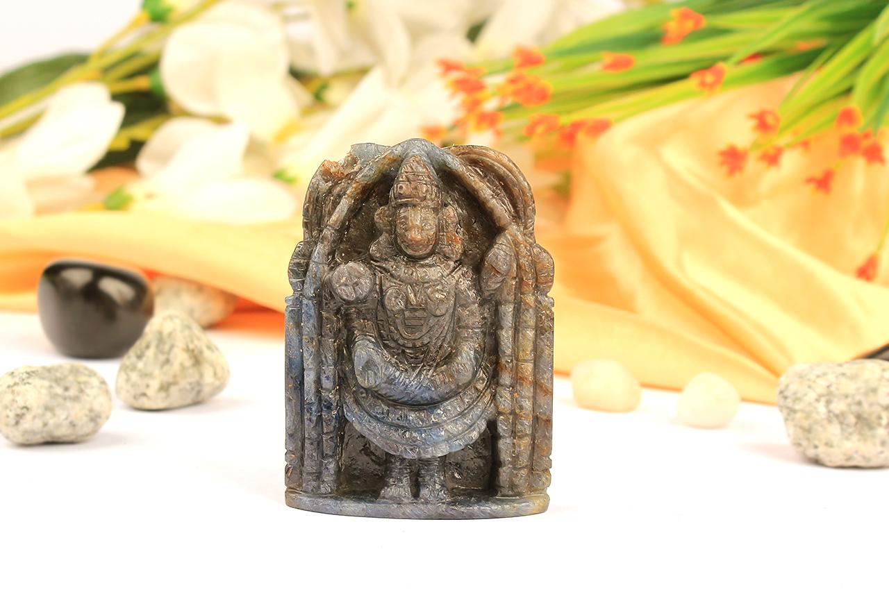Tirumalai Balaji in Blue  Sapphire - 440 Carats