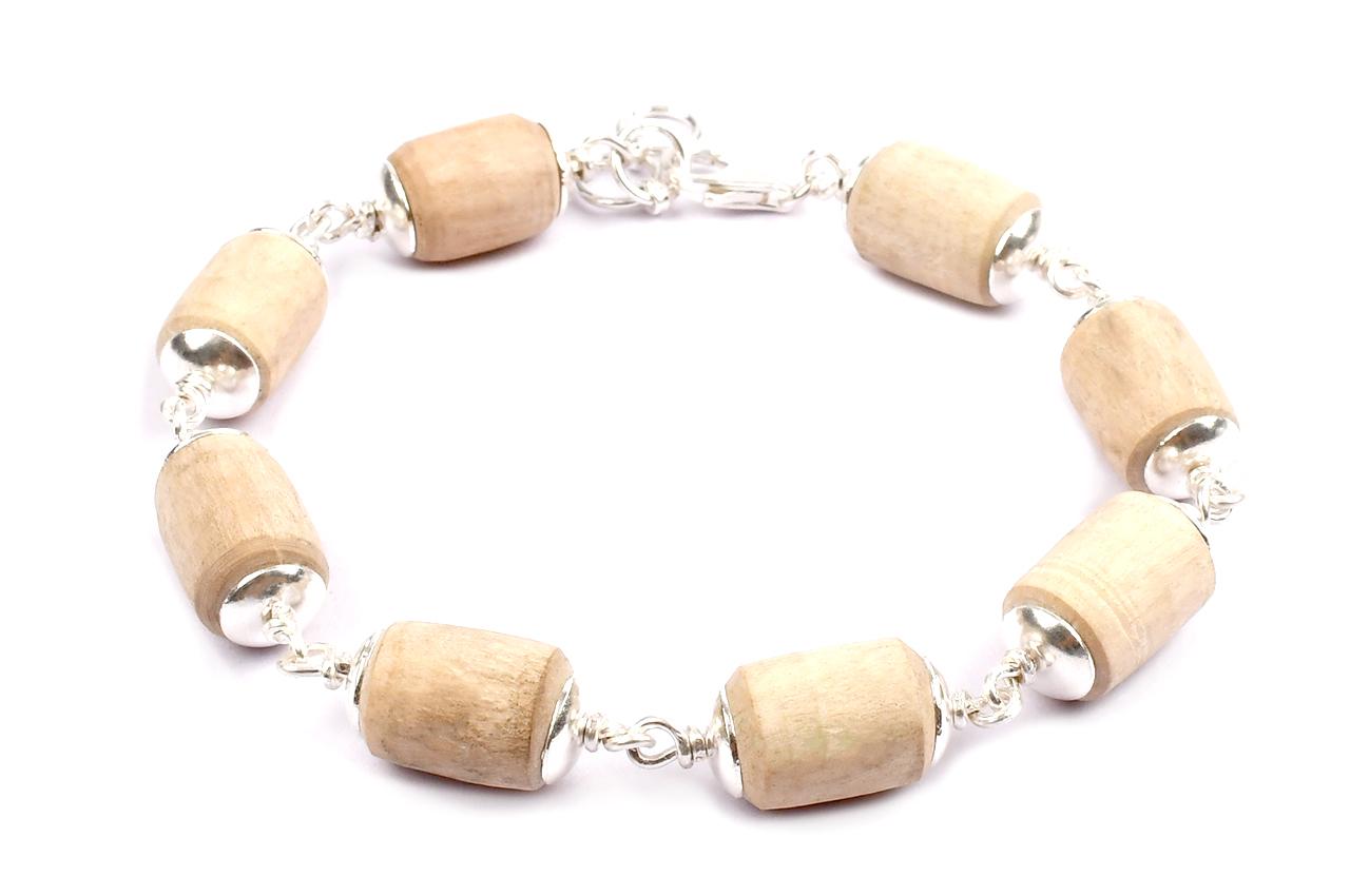 Tulsi Beads Bracelet in Silver - Design II