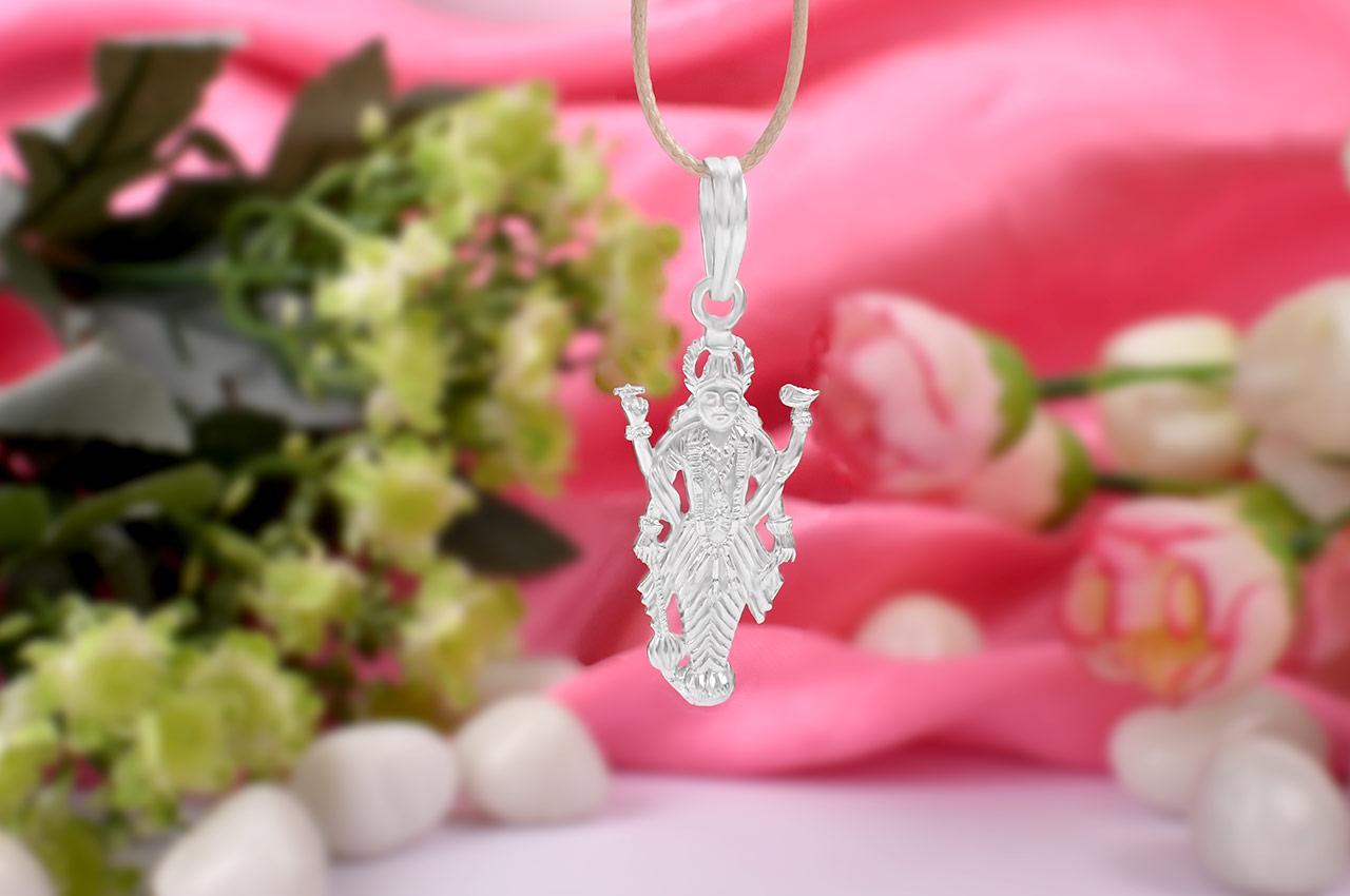 Vishnu Locket in pure silver